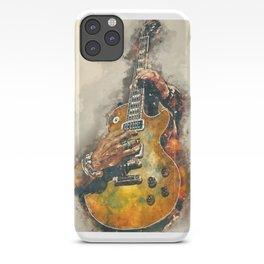 slash's electric guitar, guitar wall art, studio decor, music room decor, gift for guitarists iPhone Case