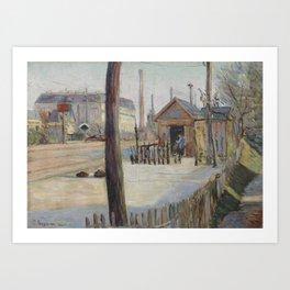 Railway Junction near Bois-Colombes Art Print
