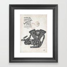 Hand lettering engine Framed Art Print