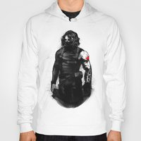 bucky barnes Hoodies featuring Who the hell is Bucky? by charlotvanh