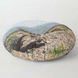 Nevada Desert Scene Floor Pillow