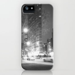 Flatiron Building NYC at Night iPhone Case