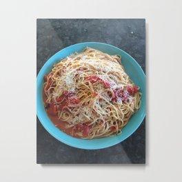 Pasta Night Metal Print
