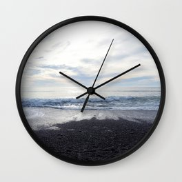 Rodeo Beach with Killer Clouds Wall Clock