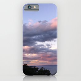 Pink clouds during sunset iPhone Case