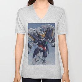 Gundam Wing Zero watercolor Unisex V-Neck