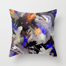 Abstract Watercolor Dark Throw Pillow