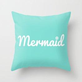 Seafoam Mermaid Throw Pillow