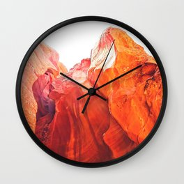 texture of the orange rock and stone at Antelope Canyon, USA Wall Clock