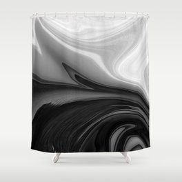 BRILLIANT - BLACK Shower Curtain