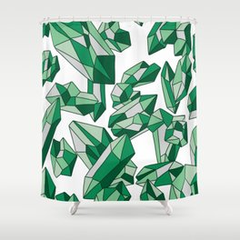 Falling crystals #2 Shower Curtain