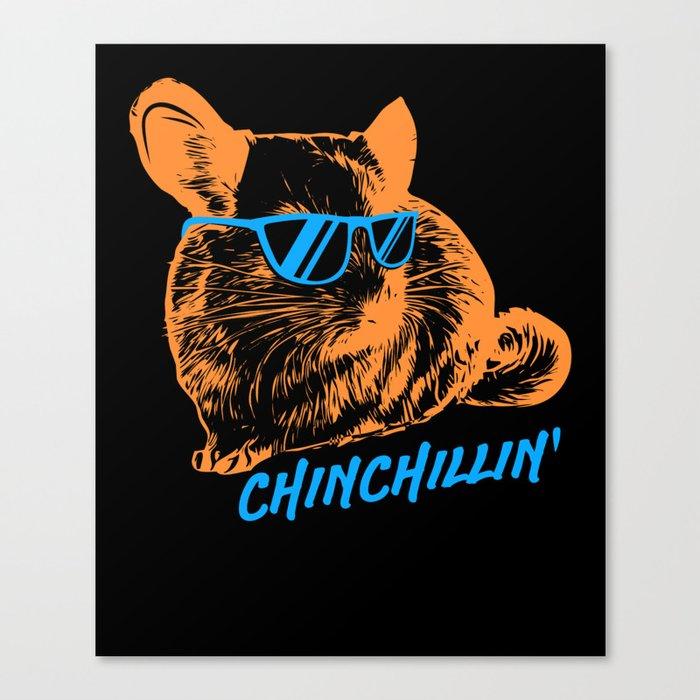 Chinchilla T-Shirt chinchillin pet Canvas Print