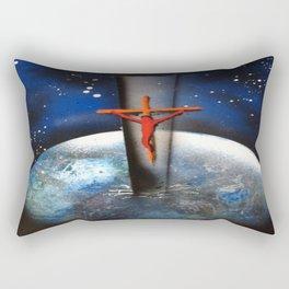 Saving the World Cross Spray Paint Rectangular Pillow