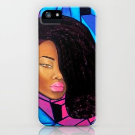 Cool - Afro Natural Hair Art iPhone Case