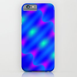 Bright pattern of blurry violet and blue lines and curly patterns. iPhone Case