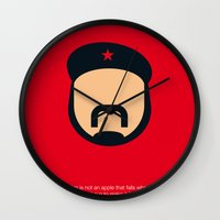 che Wall Clocks featuring FC - Che by Greg Guillemin