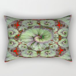 Escargot Begonias Abstract Rectangular Pillow