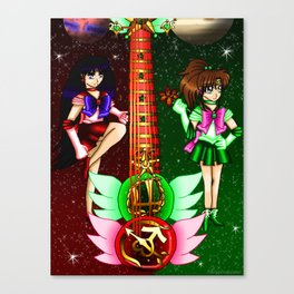 Fusion Sailor Moon Guitar #26 - Sailor Mars & Sailor Jupiter Canvas Print
