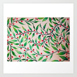 Cherry leaf Art Print