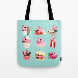 Rosa food collage green Tote Bag