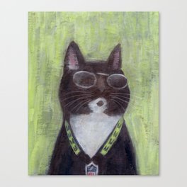 Cat in Shades Canvas Print