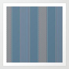 Decorative Vertical Multi Pattern Design Art Print