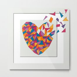 You Make My Heart Explode 2 Metal Print