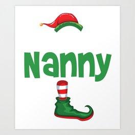 elf nanny Art Print