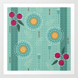 Sashiko Meadow II Art Print