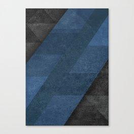 Geometric - Blue Canvas Print