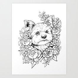 Color-Me Canine: Yorkshire Terrier Art Print