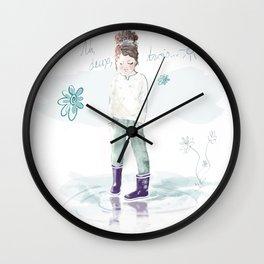 Un deux trois... soleil Wall Clock
