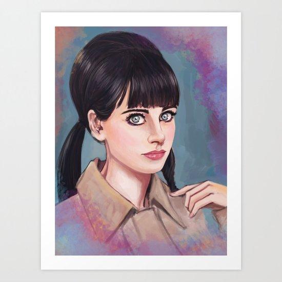 The  New Girl Art Print