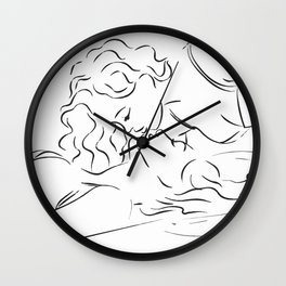 Minas - Minimal Female kiss Wall Clock