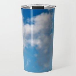 Dreaming floating candy on blue Travel Mug