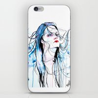 agnes cecile iPhone & iPod Skins featuring Agnes Cecile inspired painting  by SOLMONTASER