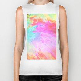 pastel acid splash Biker Tank