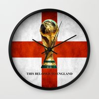 world cup Wall Clocks featuring World Cup by Rothko