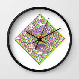celtic knotted diamond Wall Clock