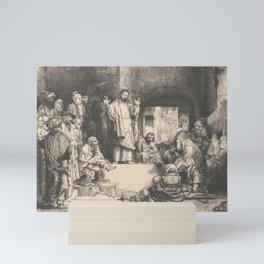 Christ Preaching - Rembrandt van Rijn Mini Art Print