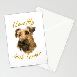 I Love My Irish Terrier Stationery Cards