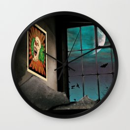 A very Haunted House Wall Clock