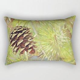 Pine Cone in the Sun Rectangular Pillow