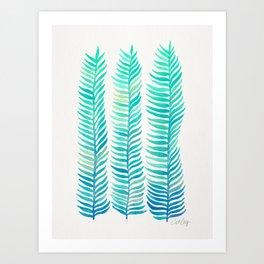 Seafoam Seaweed Art Print