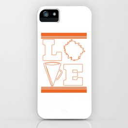 """Cheerleading Tee Perfect Gift For Cheerleaders Saying """"Love Cheer!"""" Cheerfulness Shout Dance Support iPhone Case"""