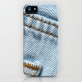 Faded Blue Jeans iPhone Case