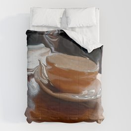 Coffee Shop Newspaper Comforters