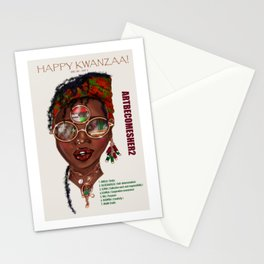 Happy Kwanzaa Gifts and Cards Stationery Cards