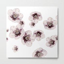 Hana Collection - Falling Sakura Metal Print