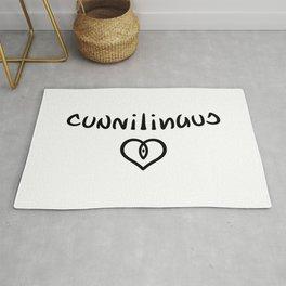Ambigram Cunnilingus Rug